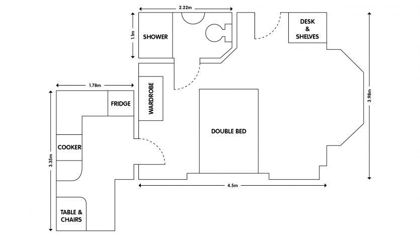 Apt 1 103 Forest Road Loughborough studio apartment