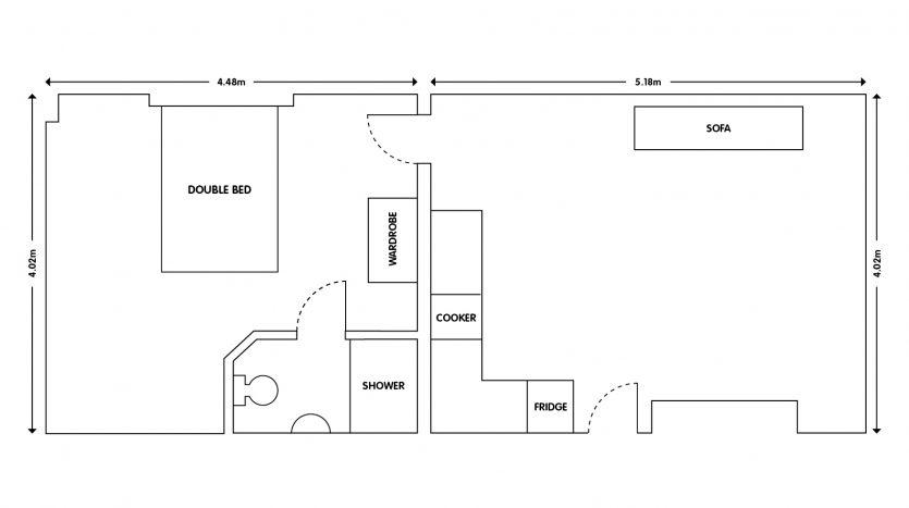 Apt 3 103 Forest Road Loughborough studio apartment