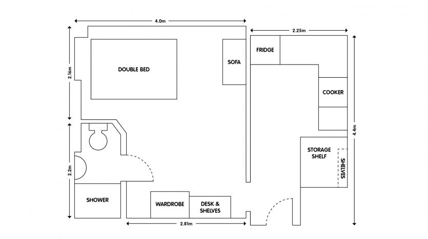 Apt 5 103 Forest Road Loughborough studio apartment