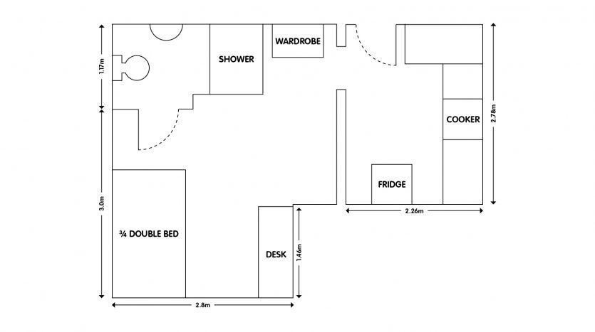 Apt 8, 103 Forest Rd Studio apartment loughborough