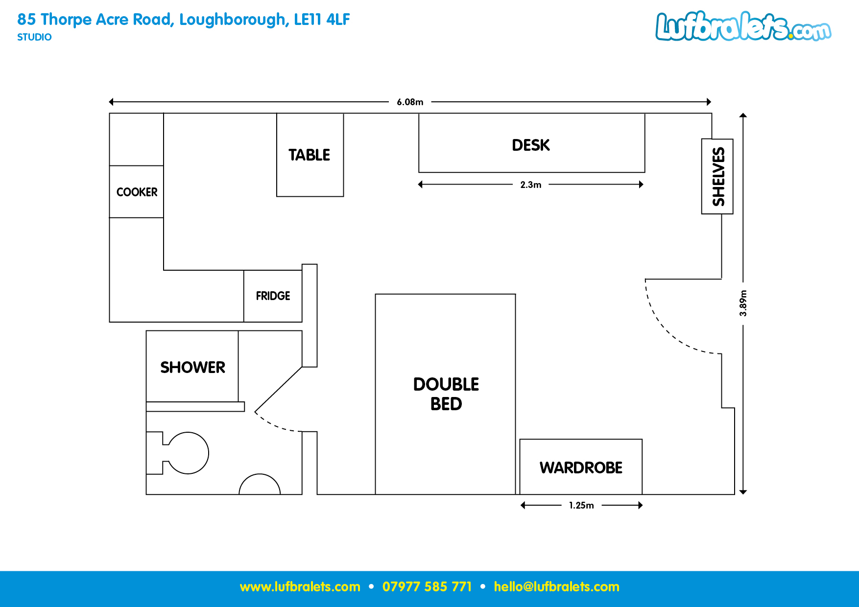 Studio Apartment in Loughborough